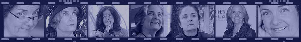 Film strip montage with photos of Alana Crow